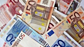 Banknote currency euros money Wallpaper