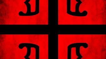 Black red flags serbia serbian cross coulor wallpaper