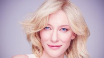Blondes blue eyes actresses cate blanchett faces wallpaper