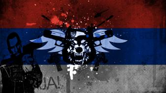 Blue red white serbia niko bellic this is wallpaper