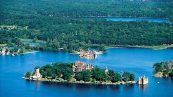 Canada blue castle castles forests wallpaper