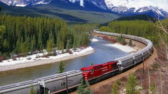 Canada canadian pacific forests gray wallpaper