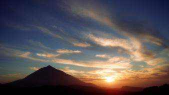 Canary islands teide landscapes sunset wallpaper