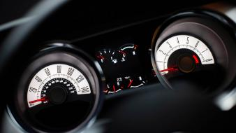 Cars ford mustang 2010 gauges sports car wallpaper