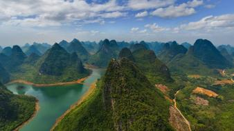 China emerald national park clouds forests wallpaper