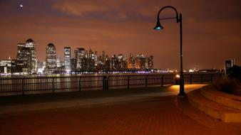 Cityscapes night lights urban cities wallpaper