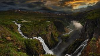 Clouds landscapes nature storm waterfalls rivers emotions Wallpaper