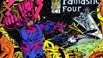 Comics fantastic four silver surfer galactus Wallpaper
