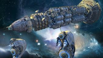 Digital art futuristic outer space science fiction wallpaper