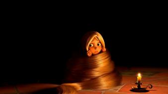 Disney company movies long hair tangled candles wallpaper