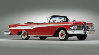 Edsel corsair oldtimer red cars wallpaper