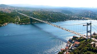 Fatih sultan mehmet bridge istanbul turkey bosphorus cities wallpaper