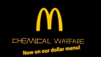 Food warfare chemical protest mcdonalds fast art unhealthy wallpaper
