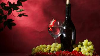 Fruits grapes wine wallpaper