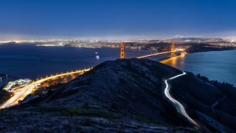 Golden gate bridge california san francisco rivers Wallpaper