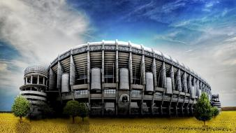 Hdr photography real madrid santiago bernabeu wallpaper