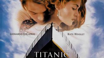 Kate winslet leonardo dicaprio titanic cover art wallpaper