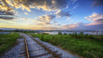 Landscapes natural scenery nature railroads railways wallpaper