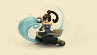 Legend of korra waterbender fighting stance ponytails wallpaper