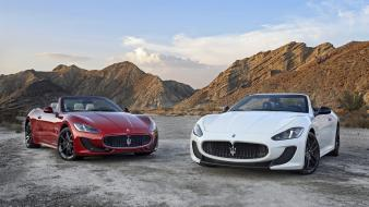 Luxury sport car maserati grancabrio cars engines supercars wallpaper