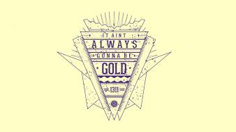 Minimalistic gold lyrics kid cudi clean lissie Wallpaper