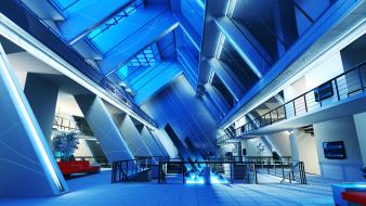 Mirrors edge architecture futurist wallpaper