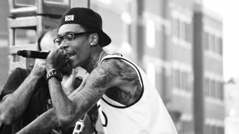 Monochrome wiz khalifa cameron jibril thomaz Wallpaper