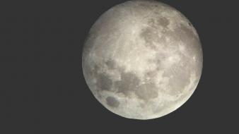 Moon gray nature outer space simple wallpaper