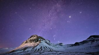 Mountains landscapes stars iceland Wallpaper
