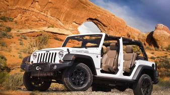 Mountains white cars jeep suv wallpaper