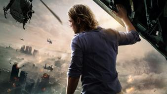 Movies brad pitt world war z apocalyptic wallpaper