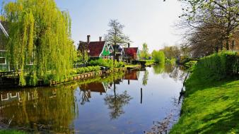Netherlands landscapes natural scenery nature water wallpaper