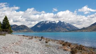 New zealand landscapes mountains natural scenery nature wallpaper
