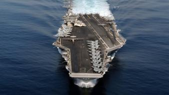 Nimitz aircraft carrier military modern wallpaper