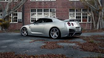 Nissan gt-r r35 cars rims trees tuned wallpaper