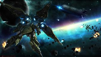 Outer space gundam unicorn nz-666 kshatriya Wallpaper
