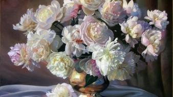 Paintings flowers Wallpaper