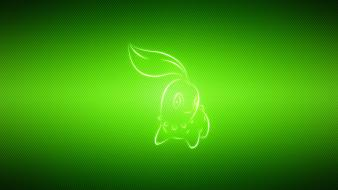Pokemon video games multicolor manga chikorita wallpaper