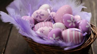 Purple easter eggs lovely Wallpaper