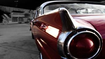 Red back cars classic selective coloring taillights wallpaper