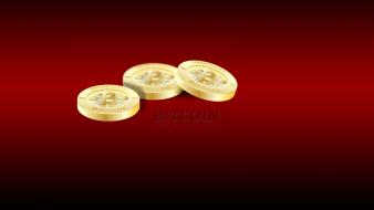 Red coins bitcoin wallpaper