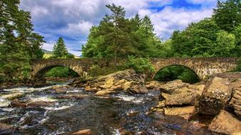 Scotland falls nature rivers Wallpaper