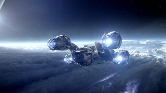 Stars futuristic planets prometheus science fiction sci-fi wallpaper