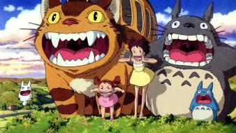 Totoro my neighbour mei catbus wallpaper