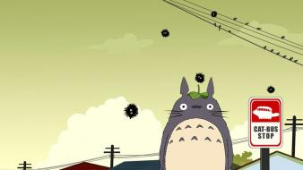 Totoro the cat returns wallpaper