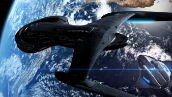 Trek planets earth spaceships science fiction sci-fi wallpaper