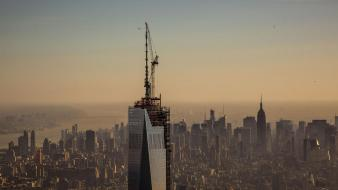 Unfinished freedom tower one world trade center wallpaper