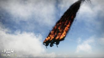 Video games aircraft crash game war thunder wallpaper