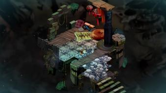 Video games isometric bastion game art wallpaper
