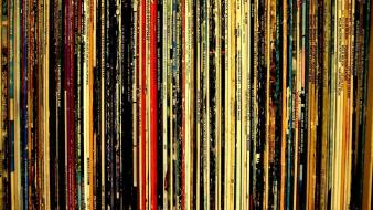 Vinyl plates lp record wallpaper